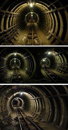 London's abandoned underground Post Office Railway - aka Mail Rail.
