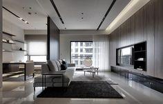 Zh宅 – 工一設計 Living Room Modern, Living Room Interior, Home Living Room, Living Room Decor, Ceiling Design Living Room, Home Room Design, Living Room Designs, Modern Apartment Design, Modern Interior