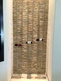 WIne Rack - stone and steel