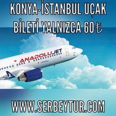 Anadolu Jet Konya-İstanbul seferlerine başladı!   60₺'den başlayan fiyatlarla Serbey Turizm'de.   İrtibat: 0332 713 41 41  www.serbeytur.com  #serbeytur #konya #eregli #konyaeregli #konyaeregliucakbileti #konyaereglianadolujet #konyaereglithy  #thy #anadolujet