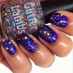 Graffiti: Glitter Topper Nail Polish Lacquer- Indie Nail Polish Custom Handmade