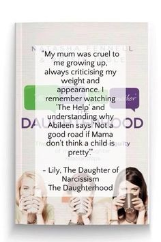 """""""I see a tormented person who is never at peace. A woman wrecked with anxiety and guilt. A woman who can't hug."""" - Sophie, The Daughter of Madness The Daughterhood: by The Daughterhood on Growing Up, Hug, The Help, Anxiety, February, Told You So, Daughter, Lily, Relationship"""