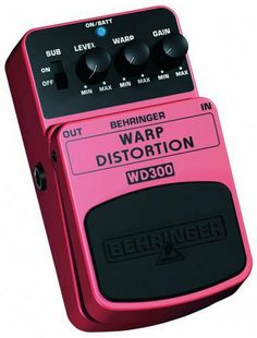 Behringer WD300 Ultimate Warp Distortion Effects by Behringer. $29.99. BEHRINGER WARP DISTORTION WD300 Ultimate Warp Distortion Effects Pedal  Turn your amp into a savage monster and get blown away by dark energy, obscene distortion and endless sustain  This BEHRINGER product has been designed to compete head to head with leading products on the market  Dual ultra-gain circuit that powers the most vicious and modern metal tone  Dedicated Gain, Warp, Level and S...
