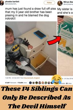 Growing up with a little brother I know how it feels to have a pesky sibling who has it out for you on a daily basis. I mean they blame you for everything even though they did it! Oh, and don't get me started when they rat you out to your parents and they give you that smirk.