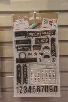 I have to have the Sn@p Stamps daily...perfect for project life