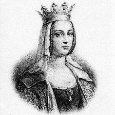 Charlemagne's 2nd Wife Hildegard (757-783), married in the year 771.