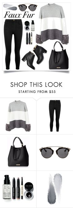 """Faux fur"" by gmg5 ❤ liked on Polyvore featuring MANGO, Frame, Christian Dior, Bobbi Brown Cosmetics, Clé de Peau Beauté and fauxfur"
