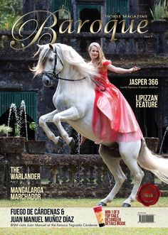 Organza on dress skirt Issue 8 of Baroque Horse International Magazine