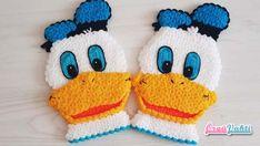 Bu konumda da çocukların çok beğenerek izlediği Donald Duck çizgi film kar… In this position, we will learn how to knit the Donald Duck cartoon character, which the children admire very much, as a bath fiber model. Knitted Gloves, Knitting Socks, Laddu Gopal Dresses, Duck Cartoon, Knitting Patterns, Crochet Patterns, Knit Crochet, Crochet Hats, Batman Wallpaper