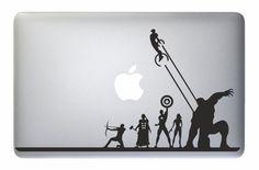 "Avengers Iron Man Captain America Thor Hulk - Apple Macbook Laptop Decal Sticker Marvel Vinyl Mac Pro Air Retina 13"" 15"" 17"" Inch Skin Cover"