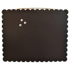 "Magnetic Chalkboard with Scalloped Edge 25x20"" : Target"
