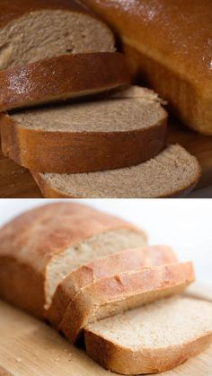 Homemade Whole Wheat Bread - The most AMAZING wheat bread recipe that guarantees each slice will be soft, fluffy and baked to perfection. Top with a dollop of butter and drizzle of honey and you have yourself a game changer! Bread Recipe Video, Wheat Bread Recipe, Easy Baking Recipes, Healthy Baking, Snack Recipes, Honey Wheat Bread, Sandwich Bread Recipes, Game Changer, Butter