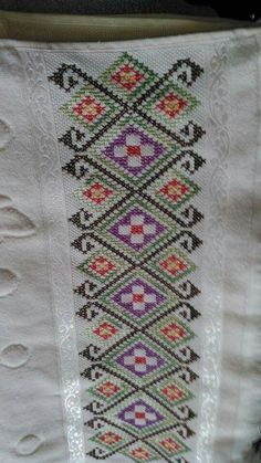 Cross Stitch Borders, Cross Stitch Designs, Cross Stitching, Cross Stitch Embroidery, Hand Embroidery, Cross Stitch Patterns, Palestinian Embroidery, Embroidery Techniques, Hobbies And Crafts