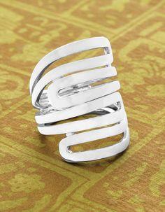 Summer style calls for summer silver: MODERN MAZE RING Shop US: www.Silpada.com /// Shop Canada: www.Silpada.Ca #SilpadaStyle #SummerSilver