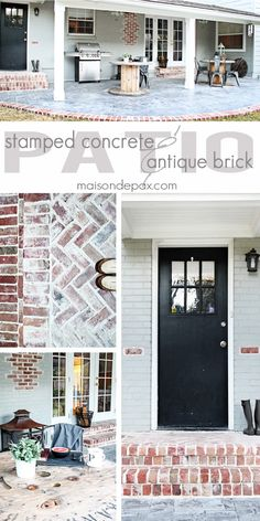 What a gorgeous stamped concrete and antique brick patio. I'd have to say this is one beautiful home decor idea.