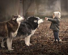Salinka & her dogs.. by Elena Shumilova - Photo 163497791 - 500px