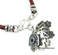 5 HAMSA HANDS WITH BLESSINGS KABBALAH RED BRACELET #jewelry #jewish #judaica #accessories #bracelet #hamsa #luck #sterlingsilver #red #kabbalah