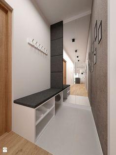 Hol / Przedpokój styl Minimalistyczny - zdjęcie od BIG IDEA studio projektowe - Hol / Przedpokój - Styl Minimalistyczny - BIG IDEA studio projektowe Modern Interior, Entrance, Sweet Home, Bathtub, Cabinet, Storage, Hallway Ideas, Inspiration, Furniture