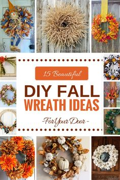 15 beautiful DIY Fall Wreaths for front door by…