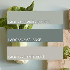 Bilderesultat for jotun balanse Jotun Lady, Pharmacy Design, Bedroom Wall Colors, Retro Stil, Scandinavian Living, Design Blog, Ceiling Design, Colour Schemes, My Dream Home
