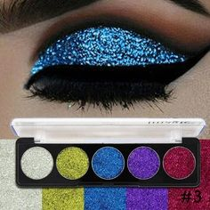 Magic Glitter Eyeshadow Face Painting Palette #brighteyeshadows #glittereyeshadows
