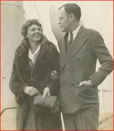 Amelia Earhart and George P. Putnam, married February 7, 1931 until her death on July 2, 1937.