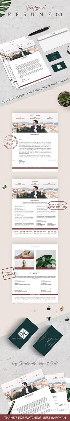 Resume CV Template Bundle - PSD, Vector EPS, AI Illustrator, MS Word
