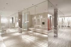 I love mirror walls, soooooo great  /// ING HYOGO DRESS SHOP