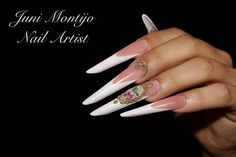 Russian almond nails love iT, my thing, acrylic long nails