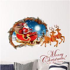 3D Wandtattoo Weihnachten Rentier Weihnachtsdeko
