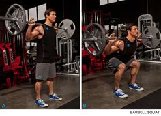 man showing how to perform the half squat https://www.getstrong.fit/Half-Squat-How-To-Exercise-Guide/Exercises