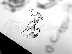Pretty Back Tattoo - Traditional Tattoo Animals - Moon Tattoo Neck - Tattoos For Dog Lovers, Dog Tattoos, Mini Tattoos, Trendy Tattoos, Body Art Tattoos, Small Tattoos, Tatoos, Beagle Tattoo, Dog Memorial Tattoos