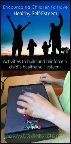 Activities to build and reinforce a child's healthy self-esteem. Daily affirmations, positive thinking, strategies and activities designed to help children feel confident.