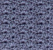 Crowded shell pattern for Crochet