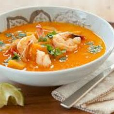 Coconut Curry Lentil Soup with Spicy Shrimp @keyingredient #soup #chicken #shrimp