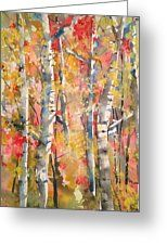 Autumn Trees Greeting Card by Robin Miller-Bookhout