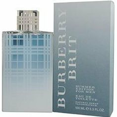BURBERRY BRIT SUMMER by Burberry Cologne for Men (EDT SPRAY 3.4 OZ (EDITION 2012)) by BURBERRY BRIT SUMMER. $31.50. Design House: Burberry. 100% Authentic BURBERRY BRIT SUMMER by Burberry Cologne for Men (EDT SPRAY 3.4 OZ (EDITION 2012)). Manufactured by the design house of Burberry. This product was released in 2012. Product Details -- Concentration: Eau De Toilette; Size: 3.4 OZ; Form: Spray; Designer: Burberry; Brand: BURBERRY BRIT SUMMER; Gender: MEN; Produ...