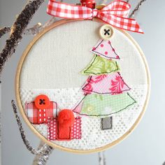 Embroidery Hoop Christmas Tree Bauble