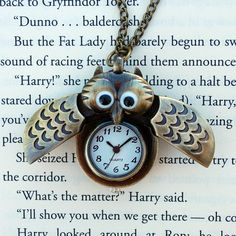 Winged Owl Watch Necklace