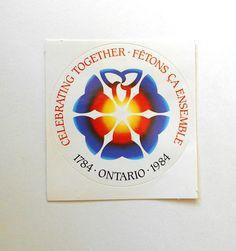 10 DECALS 1784 Ontario 1984 Celebrating Together Fêtons ça Ensemble plus Bonus decal Ontario, Trending Outfits, 1984, Unique Jewelry, Etsy, Handmade Gifts, Paper, Ephemera, Decals