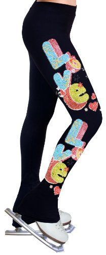 Ice Figure Skating Dress Practice Pants with Rhinestones R04 - Adult Large by ny2 Sportswear. $59.99. Thigh(inches) : 18.75. Hip(inches): 33. Inseam(inches): 33.5. Waist(inches): 28.5. Age: 14+. * Made with 88% SUPPLEX® fiber plus 12% LYCRA® fabric with all the comfort and fit that you need.     * Cotton-feel soft touch and aesthetics.     * 4-way stretch providing muscle support and allowing freedom of movement.     * Heavy weight fabric keeps you warm during practic...