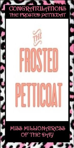 385) The Frosted Petticoat~ Miss Millionairess of the Day. https://www.pinterest.com/frostpetticoat/