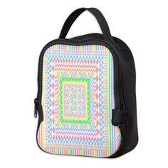Layered Pastels Neoprene Lunch Bag