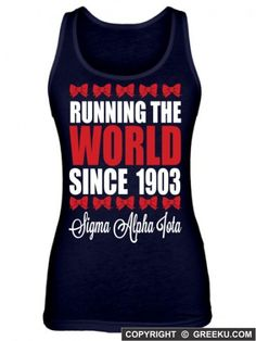 Sigma Alpha Iota Running The World Poly-Cotton Unisex Tank Top .....I want this in long sleeves!!!!
