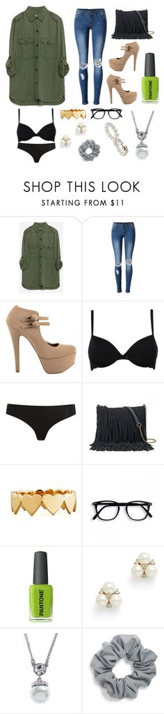 """green with envy"" by hayhaylovesyou ❤ liked on Polyvore featuring beauty, Zara, WithChic, Qupid, John Lewis, STELLA McCARTNEY, SONOMA Goods for Life, Jennifer Zeuner, Kester Black and Ben-Amun"