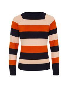 fb05274f6 Agatha Bold Stripe Jumper | '70s-inspired High Neck Striped Knit | Joanie