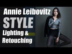 Annie Leibovitz Style Lighting Technique & Retouching Tips using StyleMyPic Pro Workflow Panel - YouTube