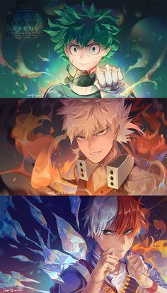 110 Best Bnha Bakugou X Midoriya X Todoroki Images Boku No Hero
