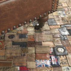 This Jeans Label Carpet from Polytuft is an unusual product that recycles jeans into a patchwork of leather labels to use as a carpet.