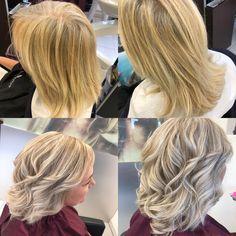 Von warm auf kühlblond #blondme #coolblond #coiffurecitylangenthal #schwarzkopfproch Blond, Make Up, Long Hair Styles, Beauty, Hairstyle, Long Hairstyle, Long Haircuts, Beauty Makeup, Long Hair Cuts